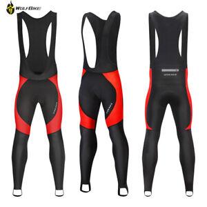 Mens Cycling Bib Pants 3D Gel Padded Compression MTB BIKE TIGHTS Winter Trousers