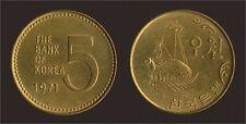 KOREA COREA DEL SUD 5 WON 1971 - FDC/UNC FIOR DI CONIO
