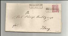 Preussen V / BORGHOLZHAUSEN 2 Ra2 auf feinstem Brief m. NDP 16 1869 n. IBURG