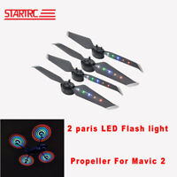 2 Pairs Flash LED Low Noise Quick-Release propellers for DJI mavic 2 pro zoom