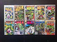Incredible Hulk 10 Comic Books Punisher Marvel Age Marvel Super-Heroes