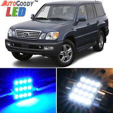 15 x Premium Blue LED Lights Interior Package Kit for 99-07 Lexus LX470 + Tool