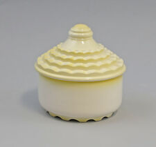 9959194 Porzellan Dose Art deco gelb Ens 12x12,5cm