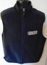 SUNY Geneseo Fleece Vest Jacket Navy Blue Zippered Medium New York University