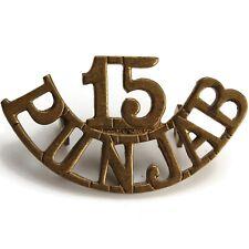 British Imperial Indian Army 15th Punjab Regiment India Shoulder Title Badge VW5