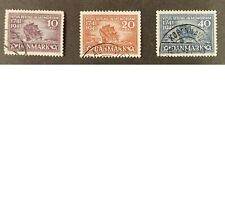 Denmark - 1941 - Complete set, 3 used stamps, VF.