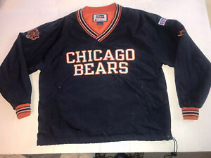 Chicago Bears Large by Champion Lined Windbreaker Stitched Letter Pullover