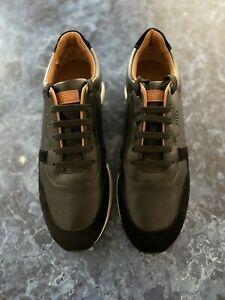 Bally Sprinter Perforated Leather Sneakers Black US Size 11.5 $500