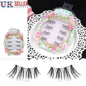 4 Pairs Handmade Half Corner Strip Eyelashes False Fake Eye Lashes