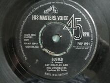 """Ray Charles Busted/Making Believe 7"""" 1963 **VG**"""