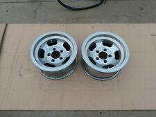 2 14x7 Slotted Mag Wheel Slot Vintage 5 X 475 Et Ansen Chevy Slots