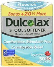 Dulcolax Stool Softener Liquid Gels 25 CP (5 Packs)