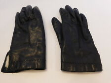 89b042a4f DESIGNER LADIES BLACK LEATHER WINTER GLOVES RABBIT FUR LINING SIZE 7