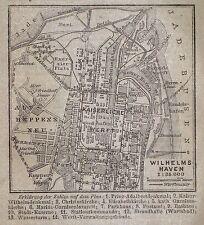 WILHELMSHAVEN, alter Stadtplan, datiert 1902