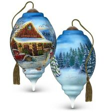 Ne'Qwa Country Store Christmas Hand-Painted Glass Ornament
