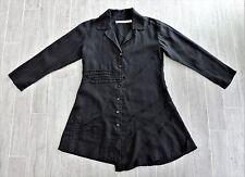 Cynthia Ashby Black Linen Asymmetric Lagenlook Art To Wear Jacket