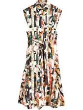 NWT BURBERRY Graffiti Archive Scarf Print Silk Shirt Dress Size 6 $2190