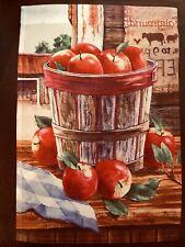 >>>ADORABLE<<< ***Bucket Of Apples** Garden Flag {NEW}