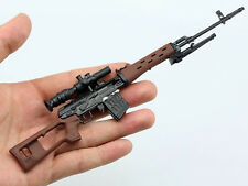 Russian Black Wood-like 1/6 Scale SVD Sniper Rifle Tactical Weapon Gun Toy Gift