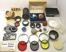 VINTAGE Assortment Lot of Camera Lenses, Filters & Accessories SEE DESCRIPTION