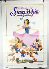 "Snow White & the Seven Dwarfs 50th Movie Poster 41""x27"" Original Rolled Ship"