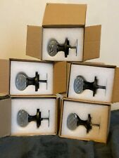 Crystal Glass & faux Brass Door Knobs Vintage look Hardware Home Decor ☆Usa