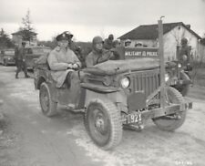 WW2 WWII Photo World War Two US Army Chief General Marshall in Jeep  / 3156