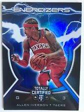 Allen Iverson NBA Card Totally Certified 76ers Energizers Panini 92/99