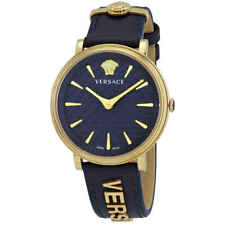 Versace V-Circle Quartz Blue Dial Ladies Watch VE8101219