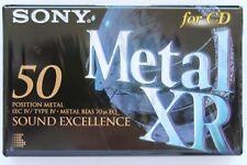 SONY METAL XR 50 METAL POSITION IEC IV/TYPE IV BLANK AUDIO CASSETTE TAPE - 1995