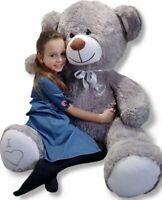 giant teddy bear large big huge stuffed grey birthday wedding gift - 160 cm