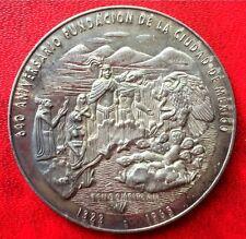 1965 Mexico Silver Coin Aztec Calendar 40mm