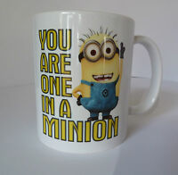 Despicable Me You Are One In A Minion Mug Novelty Gift Present personalised FREE