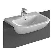 Vitra S20 Semi Recessed Basin Sink 550mm 1 Tap Hole - 5524 Semi Countertop Basin