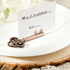 50 Vintage Key Design Place Card Holder Wedding Favors Shower Event Bulk Lot