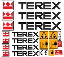 TEREX DUMPER MINI DIGGER DECALS STICKERS