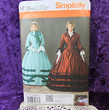 Simplicity 1818 Civil War Costume Belle Top Full Skirt Pattern 2 Looks 8-14 New