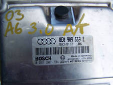 02-2004 Audi A6 A4 ECU 3.0 ECM Engine Control Module Computer  8E0909559E