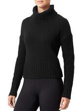 ATHLETA $228 NWOT DEREK LAM BLACK VILLAGE CASHMERE TURTLENECK SWEATER   M