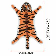 Tiger Shape Printed Flocking Door Mat Absorbent Bath Area Rug Home Floor Carpet