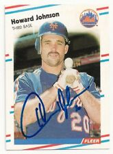 HOWARD JOHNSON - SIGNED/AUTO/AUTOGRAPH ON A BASEBALL CARD - NY METS