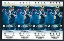 2015 NFL STEELERS @ RAMS FOOTBALL (4) UNUSED TICKETS - TODD GURLEY FIRST GAME