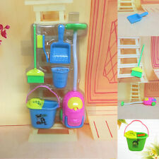Home Furniture Furnishing Cleaner Cleaning Toy For Barbie Doll House Set Gifts