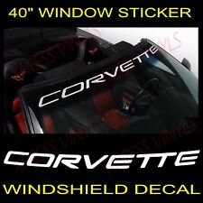 "Chevy Corvette Windshield Vinyl Decal Sticker Custom 40"" Vehicle Logo"
