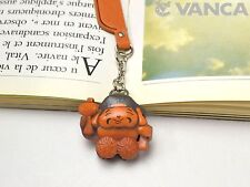 Rugby ball Leather Charm Bookmarker *VANCA* Made in Japan #61597
