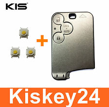 3T Key Card Housing Key for Renault Laguna 2 Espace 4+ 3xTaster