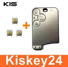 3T Schlüsselkarte Gehäuse Schlüssel für Renault Laguna 2 Espace 4 + 3xTaster