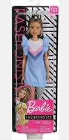 Barbie Fashionistas Doll #121 with Prosthetic Leg - Brunette Latina. New Mattel.