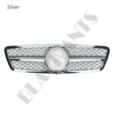 Silver For Mercedes-Benz C-Class W203 2000-06 Upgrade Front Grilles Mesh
