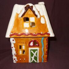 """Gingerbread House Candle Holder Christmas Holiday Ganz 9"""""""